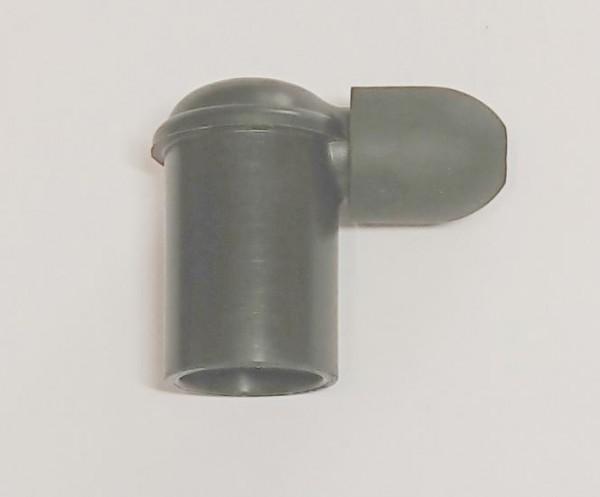 Zündkerzenstecker 90° gewinkelt schwarz (nicht entstört) inkl. Wasserschutzkappe