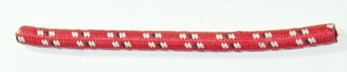 Textilumflochtene Zündleitung 7mm rot-weiß-schwarz