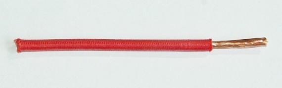 Textilumflochtene FLRY-Ltg. 6,0 qmm rot