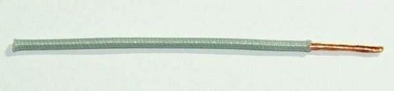Textilumflochtene FLRY-Ltg. 1,0 qmm grau