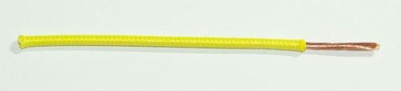 Textilumflochtene FLRY-Ltg. 1,0 qmm gelb