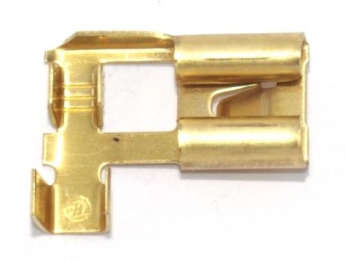 Flachsteckhülse mit Rast 8,0mm 1,0-2,5qmm 90°abgew.