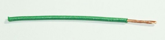 Textilumflochtene FLRY-Ltg. 1,0 qmm grün