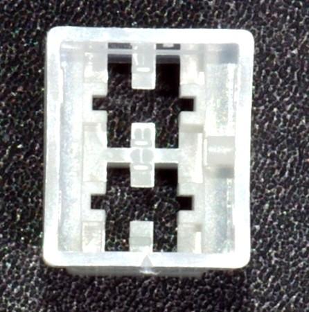 Standard 6,3mm Steckgehäuse 2-polig