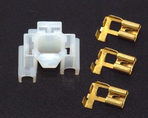 3-pol. Steckkupplungssatz für Bilux inkl. Stecker