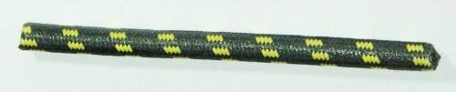 Textilumflochtene Zündleitung 7mm schwarz-gelb