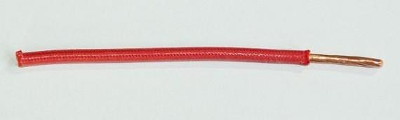 Textilumflochtene FLRY-Ltg. 4,0 qmm rot