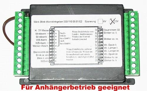 KM Blink-Warnblinkanlage 12 Volt für Anhängerbetrieb