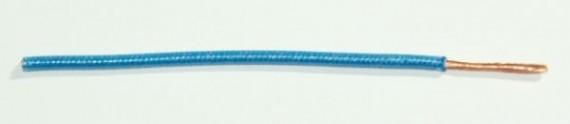 Textilumflochtene FLRY-Ltg. 1,0 qmm blau