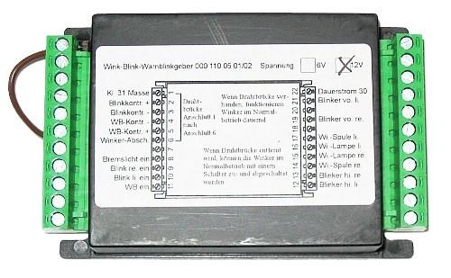 KM Blink-Warnblinkanlage 12 Volt für + an Masse