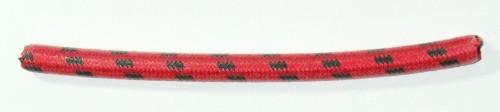 Textilumflochtene Zündleitung 7mm rot-schwarz
