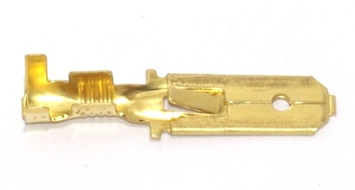 Flachstecker lang mit Rast 6,3mm 1,5-2,5qmm