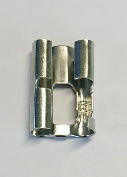Rundsteckverteiler 3-fach für 4mm Rundstecker 1,0-2,5qmm