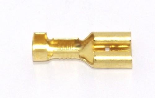 Flachsteckhülse mit Rast 6,3mm 0,5-1,0qmm