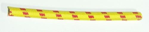 Textilumflochtene Zündleitung 7mm gelb-rot