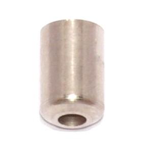 Abschlußkappe massiv Messing vernickelt 4,9mm