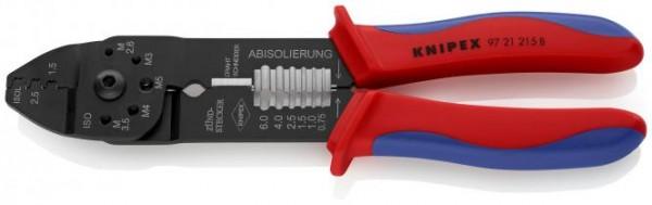 Knipex Multifunktionscrimpzange für unisolierte Steckverbindungen bis 2,5qmm