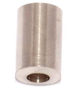 Abschlußkappe massiv Messing vernickelt 6,1mm