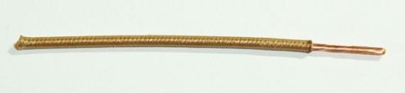 Textilumflochtene FLRY-Ltg. 1,0 qmm braun