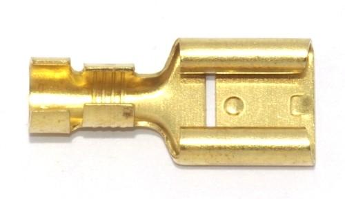 Flachsteckhülse mit Rast 9,5mm 4,0-6,0qmm