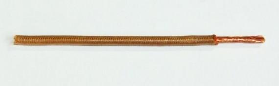 Textilumflochtene FLRY-Ltg. 4,0 qmm braun