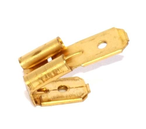 Steckverbinder für 6,3mm Flachsteckhülsen