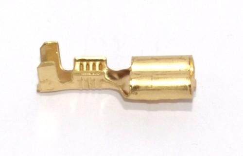 Flachsteckhülse mit Rast 6,3mm 1,5-2,5qmm